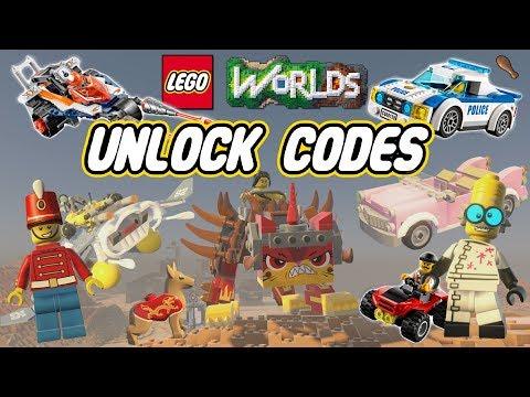 Lego Worlds | All Unlock Codes!