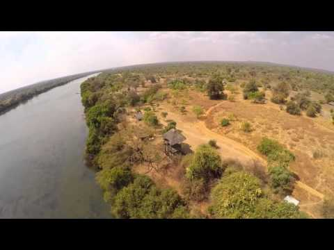 Flying Over The Kafue River, Hippos And A Croc