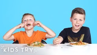 Kids Try Italian Food from Around the World | Kids Try | HiHo Kids