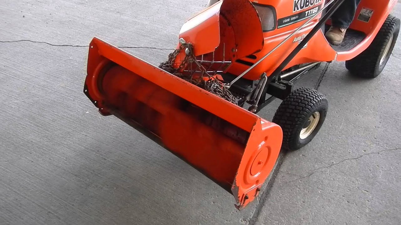 Kubota Model T1760 Lawn Mower With Snow Thrower Model