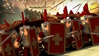 Minecraft | Good vs Evil - ROME FORT DEFENSE: Gallic Wars! (Rome vs Gaul)