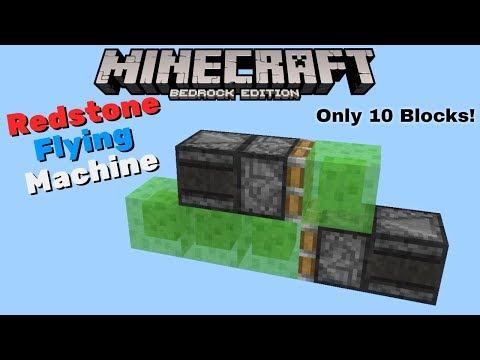 Redstone Flying Machine! Minecraft Bedrock Edition - YouTube