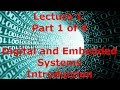 Lecture 1.1 - Digital and Embedded Systems Introduction (Mx1)