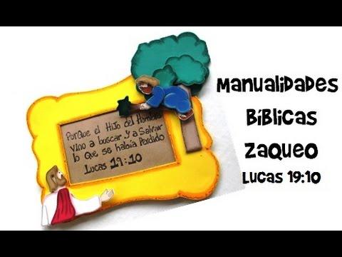 Manualidades Biblicas Lucas 19 10 Zaqueo Youtube