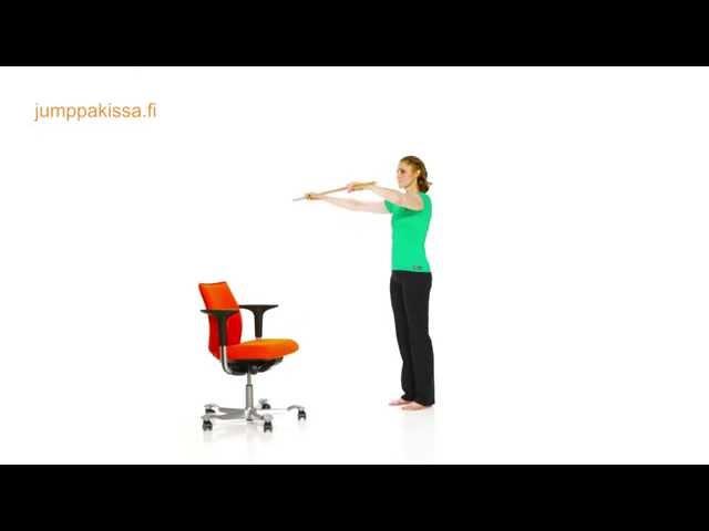 Taukojumppaliikkeitä istumatyöhön, osa 2