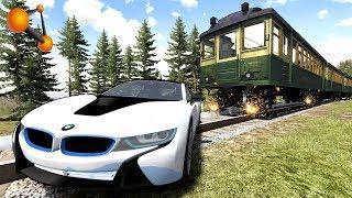 10 МЛН РУБ ПОД ПОЕЗД! ПРОЩАЙ BMW i8 | BeamNG.drive