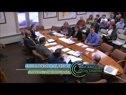 Administration & Finance Special Meeting 3-20-18