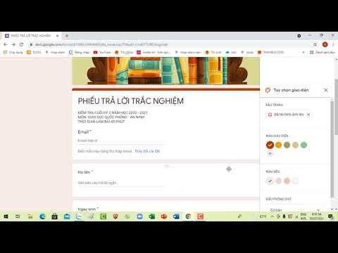 Hướng dẫn tạo đề kiểm tra trắc nghiệm nhanh trên google biểu mẫu và Sites  #tracnghiem#kiemtra