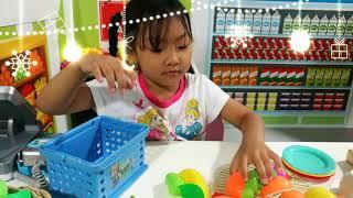 เล่นของเล่น | เล่นขายของ | Super market toys | สวนสนุก Blue Monkey by The Kids TV