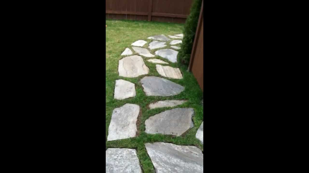 Diy Flagstone Walkway Project Youtube