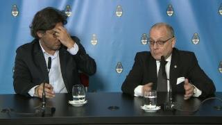 Declaraciones a la prensa de los ministros Germán Garavano y Jorge Faurie