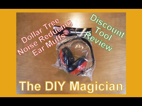 Dollar Tree Noise Reducing Ear Muffs Discount Tool Review The DIY Magician