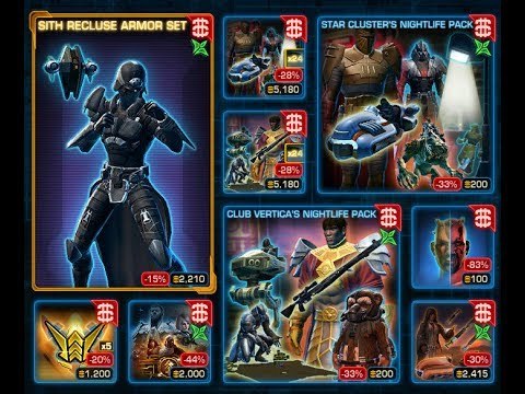 SWTOR: Sith Recluse for DIRECT SALE on Cartel Market! - YouTube