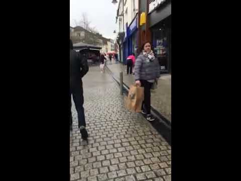 Street fight in Waterford City, Ireland