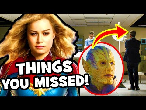 EVERYTHING YOU MISSED In The Captain Marvel Trailer