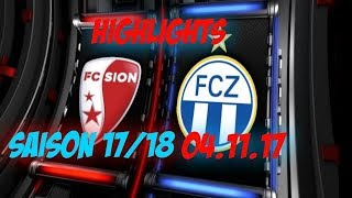 Fc Sion vs Fc Zürich (04.11.17)
