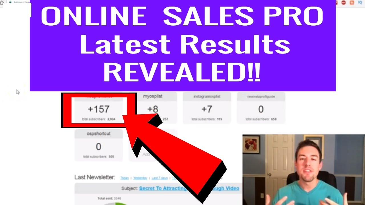 online sales pro results my results after just one month
