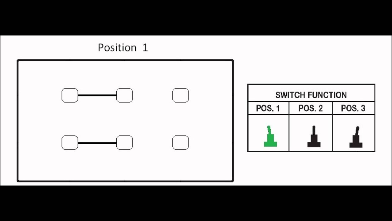3 Position toggle switch configuration 2P3T, DP3T  YouTube
