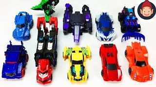 Transformers Toys Combiner Force With Optimus Prime Bumblebee Megatronus Sideswipe and Grimlock