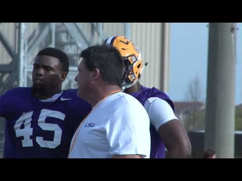 Scotty Mac - WATCH LSU Spring Football Practice-Yesterday's Highlights Ordered DRESSED