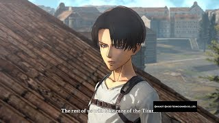 Attack on Titan Wings of Freedom Levi(No Jacket)99+Perfected Gear Gameplay