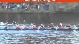 Head of The Charles Regatta 2010 - CRI Community Rowing Boat #1 and #2