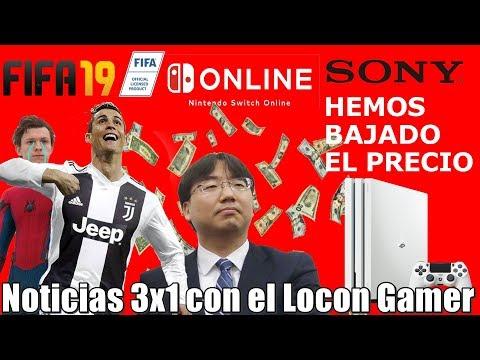"""Nintendo Online """"arrasa"""" en Japón   FIFA 19 destrona a Spider Man   Ps4 Pro baja de precio en Japón"""