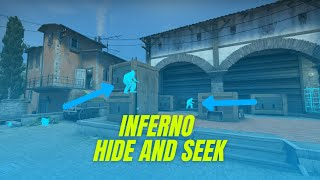 INFERNO HIDE & SEEK BEST SPOTS! CS:GO