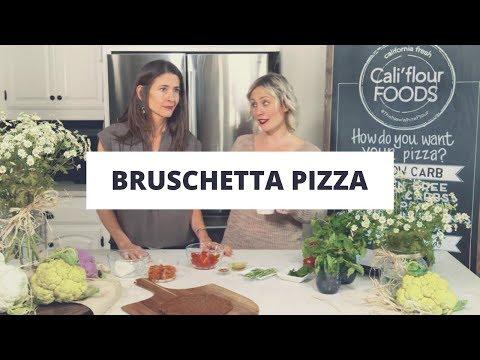 Bruschetta Pizza Using Cauliflower Pizza Crust