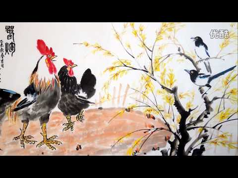 Chinese painting - How to paint chicken by  artist Wang Zhenhua