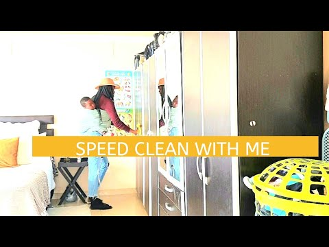 SPEED CLEAN WITH ME:WORKING MOM CLEANING  ROUTINE SOUTH AFRI