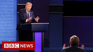 First Trump-Biden presidential debate: Trump clashes with moderator - BBC News