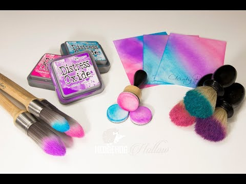 Card Making How To: Clarity Brush review and Barber Brushes & Ranger Blending Tool Comparison