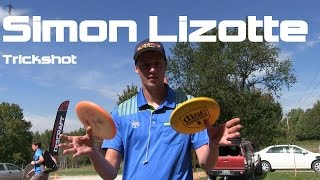 Disc Golf Mini Clip - Simon Lizotte Trick Shot - Double Twist Scarecrow Catch
