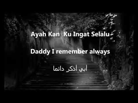 solawat 'rindu ayah' beserta (bahasa inggris,dan arab)