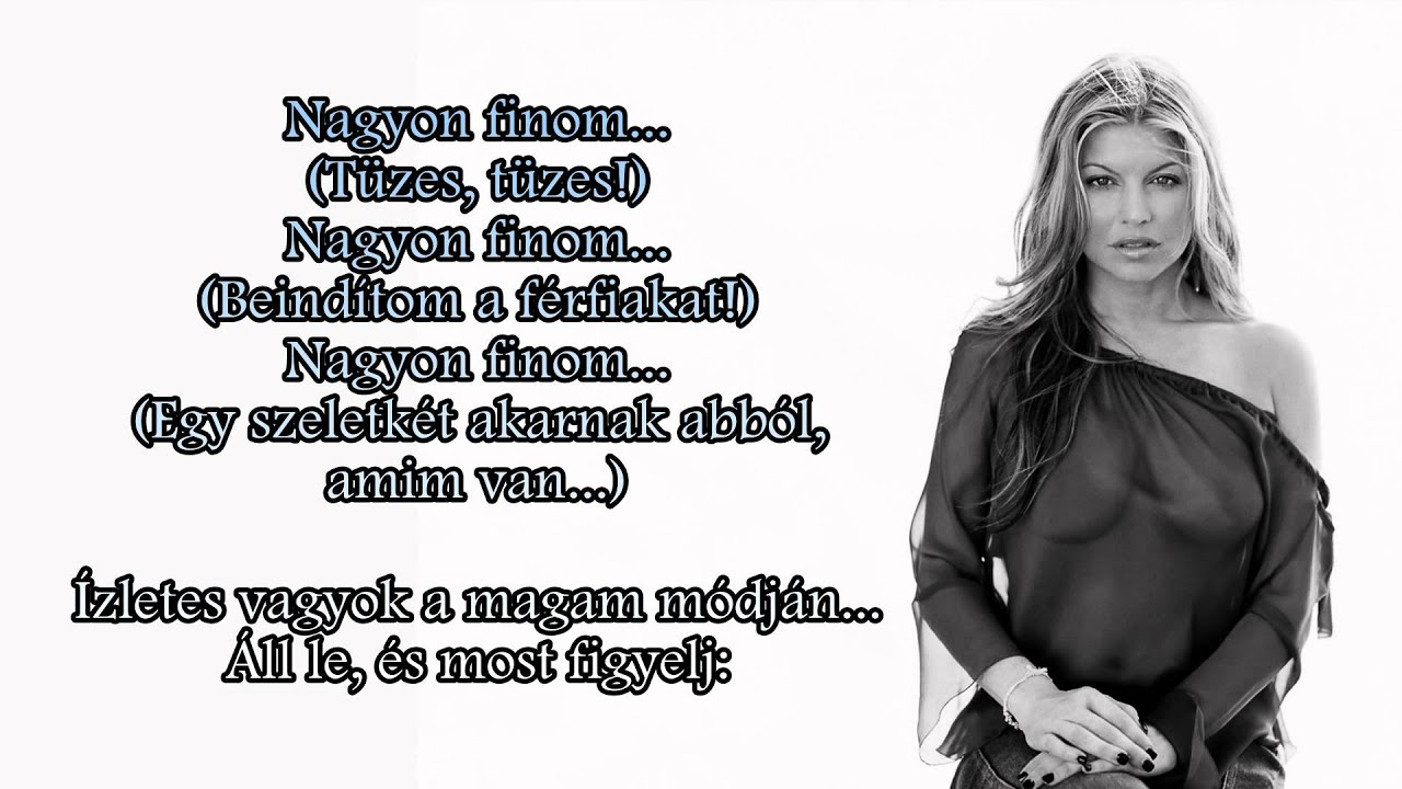 Rocky Wallpaper With Quotes Fergie Fergalicious Magyarul Hungarian Lyrics On Screen