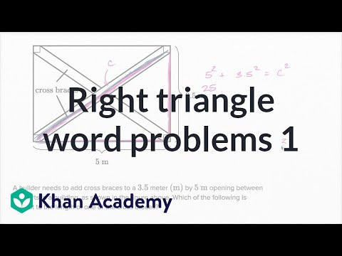 Right Triangle Word Problems — Basic Example | Math | New SAT | Khan Academy