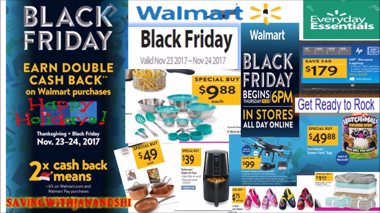 walmart black friday full ad 2017 doovi. Black Bedroom Furniture Sets. Home Design Ideas