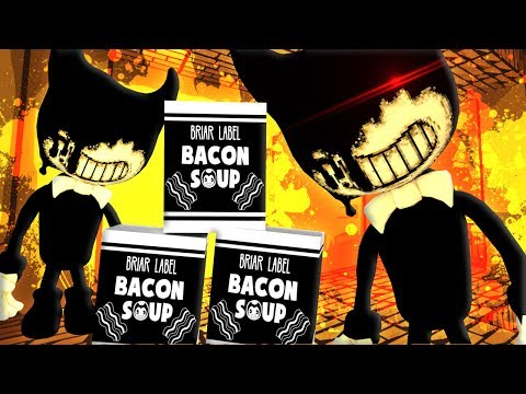 DONT TOUCH MY BACON SOUP!! BENDY AND THE INK MACHINE CREW PLAYS MINECRAFT!!