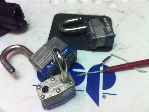 How to Rake open a Master padlock in seconds!