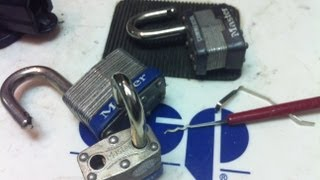 how to rake open a master padlock in seconds