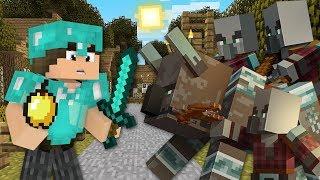 Minecraft Origens #22: A GUERRA NA CIDADE! A INVASÃO DE PILLAGER!