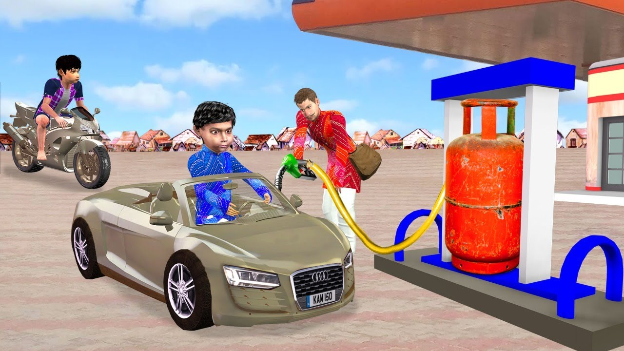 मिनी क्ले कार गैस सिलेंडर Mini Clay Car Gas Cylinder Hindi Comedy Video Hindi Kahaniya Comedy Video