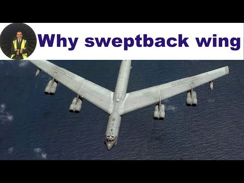 Why are wings swept back ✈ ATPL ✈