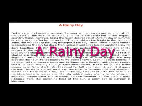 Essay On Quota Rainy Dayquot English Essay For Class 8910 And
