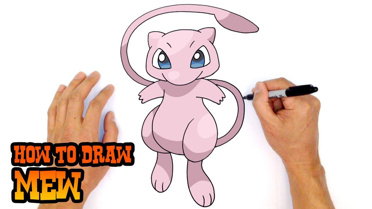 How To Draw Pokemon Mew Youtube