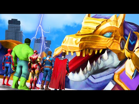 Download GTA 5 - Avengers FOUND Giant Crocodile Robot Attacking City