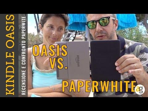 RECENSIONE Kindle OASIS 2019 e confronto PAPERWHITE