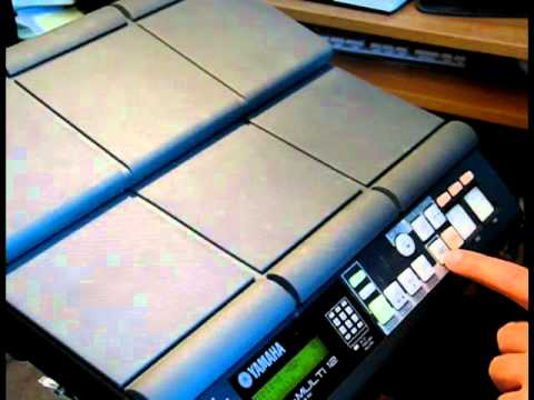 yamaha dtx multi12 drums tips digital percussion machine tutorial
