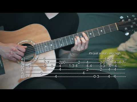 it's just a blur/Adria Blue - Sky High - Guitar Tabs